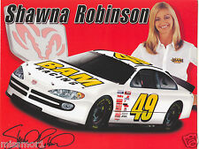 Shawna Robinson 2002 Ram racing promotional picture signature card #49