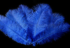 """8 Grade A 12-14"""" Royal Blue Ostrich Drab Plume Feathers Wedding, Millinery, NEW"""