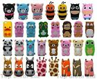 Cartoon Animals 3D Silicone Rubber Tpu Case Cover Skin For iPhone 4 5 5c 6 6s SE