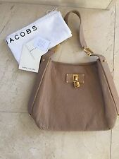 Marc Jacobs Hobo Tan  Leather Handbag Purse Retails $1095 Worn 1 Time Good Cond