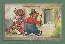 1936 PC A. E. KENNEDY THREE BEARS - SOMEBODY'S BEEN HERE!