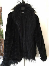 Rinascimento Jacket coat faux fur Italy couture black