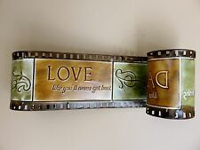 METAL MOVIE REEL HOME THEATRE DECOR RETRO  17 IN.. wall plaque sign THEATER new