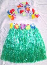 6 KIDS SIZE HAWAIIAN HULA ASST SKIRT PARTY SET new childrens luau bracelet hat
