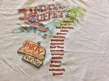 Jimmy Buffet 2006 Party At The End Of The World Concert Tour White T-Shirt XL