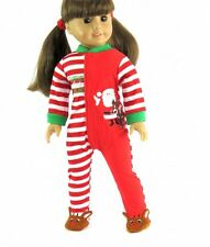 "Santas Little Helper Pajamas Christmas Fits 18"" American Girl Doll Clothes"