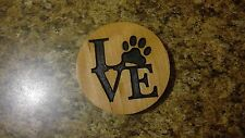 Dog Love Magnet Cherry Refrigerator Magnet American Made/ Homemade