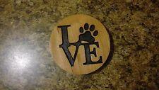 Dog Love Magnet Cherry Refrigerator Magnet American Made/ Homemade
