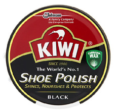 Kiwi Shoe,Boot Polish Shine Protector Leather 100ml Tin in Black Colour