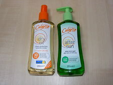 CALYPSO FACTOR 30 DRY OIL TAN SPRAY & ALOE VERA AFTER SUN GEL / LOTION / CREAM