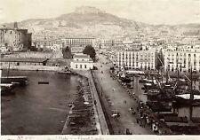 № 5269 DEL MOLO CASTELLO SANT'ELMO NAPOLI ITALY ORIGINAL ca 1880's ALBUMEN PHOTO
