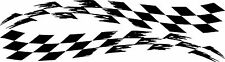 checkered flag racing vinyl graphics decal sticker set large torn any color