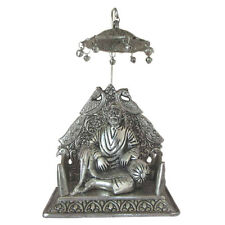 SHIRDI SAI BABA IDOL,OXIDIZED SILVER FINISH METAL STATUE,HANDICRAFT GIFT