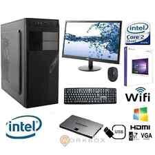 """PC DESKTOP INTEL QUAD CORE WINDOWS 10 PRO 8GB 1TB WIFI MONITOR 22""""TASTIERA MOUSE"""