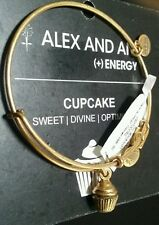 Alex and Ani Cupcake Russian Gold Color Expandable Bracelet NEW W/tag