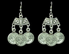 New Bohemian Style Turkish Ethnic Coin Statement Dangle Drop Earring Free Gift