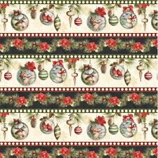 Wilmington Woodland Holiday by Lisa Audit 86391 219 Ornament Stripe BTY