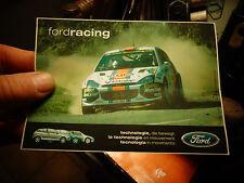 Ancien Autocollant FORD RACING Martini Rallye Rally 2002