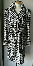 Ladies Wool coat herringbone check belted jacket belted size 14 Autumn Winter