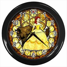 NEW* HOT  BEAUTY AND THE BEAST  Black Wall Clock Decor Gift