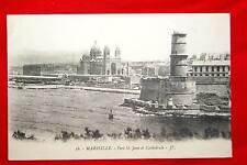 MARSEILLE FORT SAINT JEAN ET CATHEDRALE 1918 BOUCHES DU RHONE