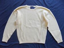 Abercrombie & Fitch Long Sleeve Crew Neck Sweater Men's Sz M Yellow Wool