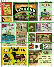 5050 DAVE'S DECALS VINTAGE BULL DURHAM BALL JARS SOAP WHITE STAR LINE SALTS