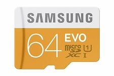 Samsung 64GB Micro SD Card + Adapter - Class 10 - 48MBPS - SDXC - Fast Dispatch!