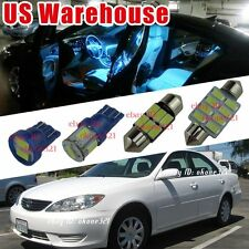 12-pc Aqua Ice Blue LED Light Interior Package Kit For 2002-2006 Toyota Camry