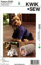 Kwik Sew Sewing Pattern 3431 Dog clothes Jacket Coat Robe XS-XL -  Cat pet House