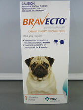 Bravecto for Small Dogs 4.5 - 10kg  Two Chews