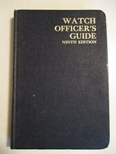 Original 1968 Navy WATCH OFFICERS GUIDE Ninth Edition Hardcover 266 pgs 263