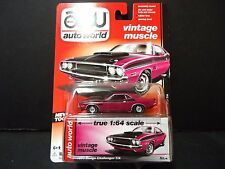 Auto World Dodge Challenger TA 1970 Pink Red 1/64 64032A