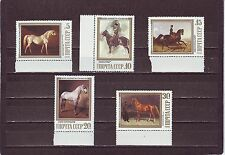 RUSSIA - SG5899-5903 MNH 1988 PAINTINGS OF HORSES