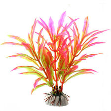 CX07 Pink Aquarium Fish Tank Ornament Artifical Plant Grass Underwater Decor