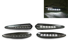 WHITE LED FRONT/REAR SMOKE BUMPER SIDE MARKER LIGHT FIT FOR 00-03 NISSAN MAXIMA