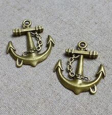 Antique bronze charm pendant Anchor – pack of 10