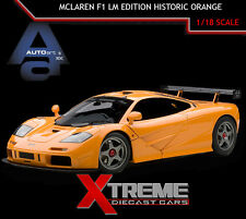 AUTOART 76011 1:18 MCLAREN F1 LM EDITION HISTORIC ORANGE SUPERCAR DIECAST CAR