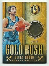 Ricky Rubio Timberwolves 2013-14 Gold Standard Gold Rush Patch Card 16/20