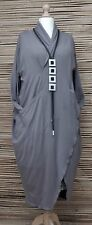LAGENLOOK*BEAUTIFUL BALLOON QUIRKY 2 POCKETS DRESS/LONG TUNIC*GREY* SIZE 50-52