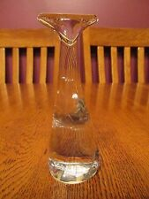 Beautiful Baccarat France Crystal Standing Art Glass Cat Figurine ~ Flat Face