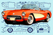 "Build a 1/10 Scale Model car18"" CORVETTE  Sutable for Radio Control Plan & Notes"