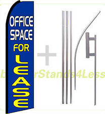 Swooper Feather Flutter Banner Sign Flag Kit- OFFICE SPACE FOR LEASE bq