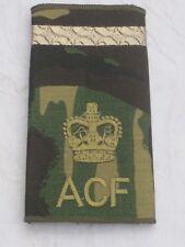 Rangschlaufen: Warrant Officer 2, ACF,DPM, Army Cadet Force, brauner Streifen
