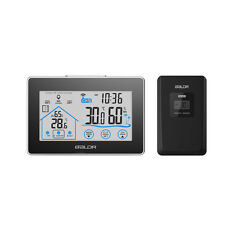 Desk Digital LCD Touch Screen Weather Station Alarm Clock Temperature Humidity