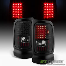 Black Smoke 1994-2001 Dodge Ram 1500 94-02 Ram 2500 3500 LED Tail Lights Lamps