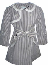Marie Chantal Pale Pink & Grey Trench Coat Age 4 SP £250 (not black & White)