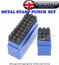 8MM Stamps Letters Alphabet And Numbers Set Punch Steel Metal Tool Case Craft