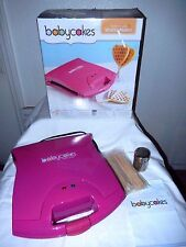 "Babycakes Heart Shaped Waffle Maker!--non-stick, vibrant pink, large 13"" x 12"""