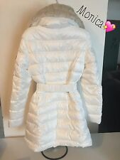 NWT Small Dawn Levy  Fur Collar White Puffer Winter Coat Warm Jacket